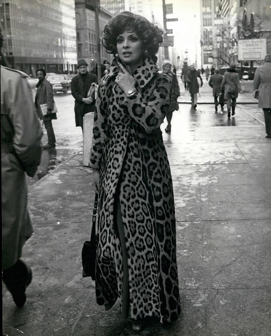 Gina Lollobrigida byla velkou milovnicí leopardího vzoru...