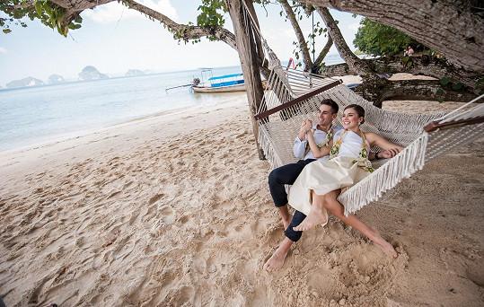 Dvojice absolvovala výlety na nejkrásnější místa vokolí svatební destinace na Krabi.