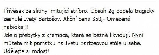 Iveta Bartošová se stala obětí podvodníků.
