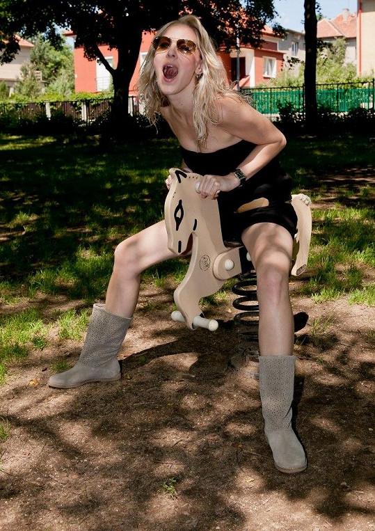 Katka Brzobohatá rajtovala na koníčkovi.