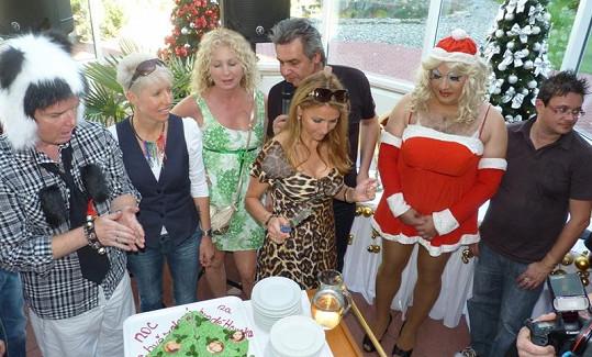 Hosté tiskovky k Vánocům na Housce rozkrojili i stylový dort.