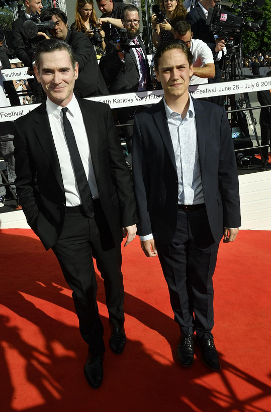 Americký herec Billy Crudup se synem
