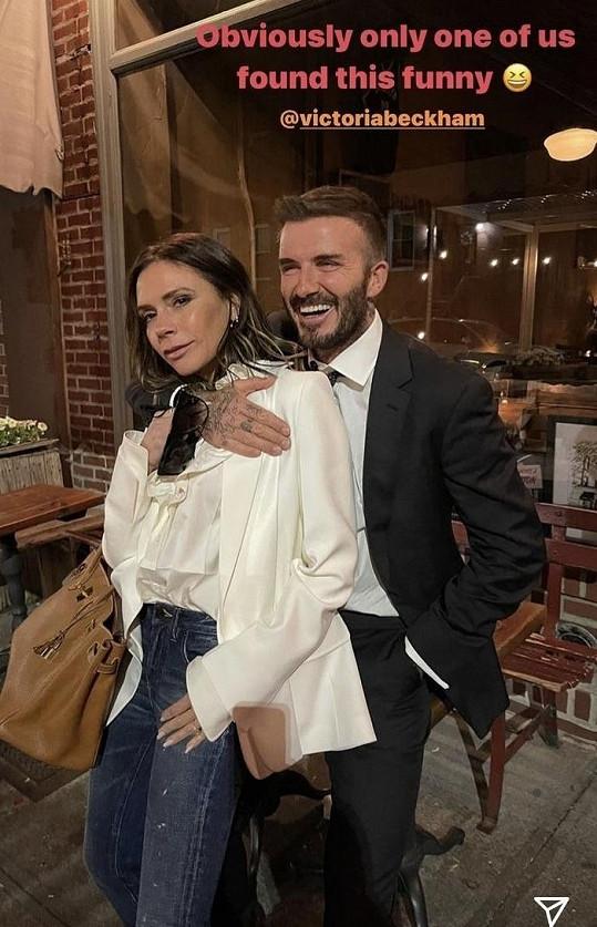 David a Victoria Beckhamovi si v New Yorku užívají jeden druhého.