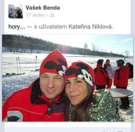 Vašek Benda s přítelkyní Kateřinou na horách.