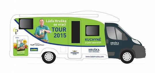 Takhle vypadá karavan, v němž Hruška objede republiku.