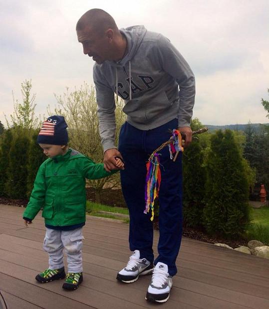 Tomáš Řepka se synem Markusem