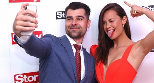 Monika s manželem Martinem Košínem