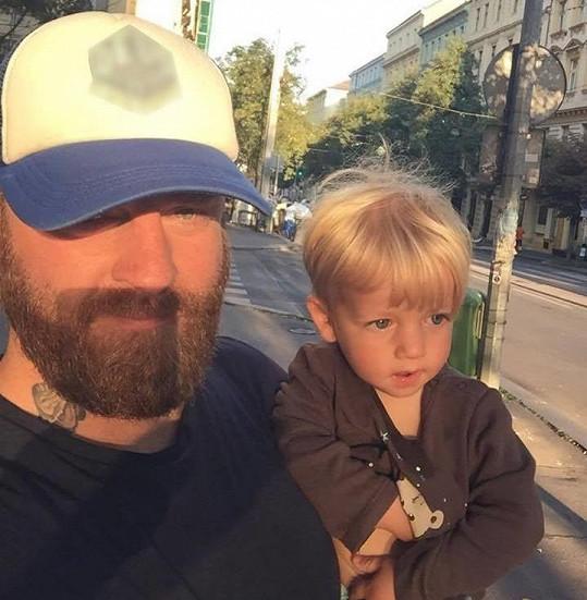 Honza Žampa se synem Christiánem