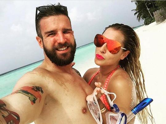 Dominika s manželem Michalem Navarou