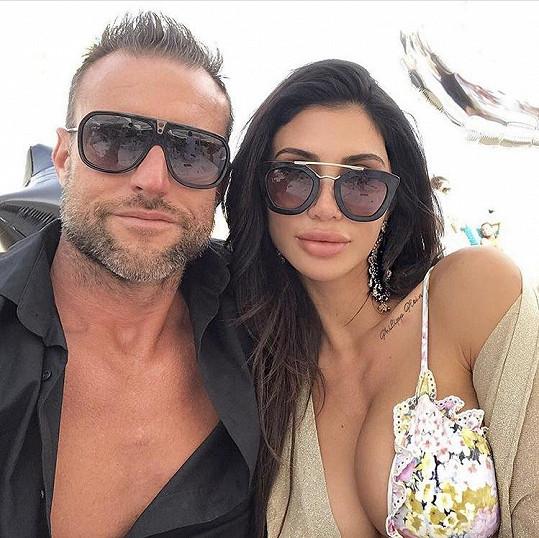 Philipp Plein s přítelkyní Morgan Osman