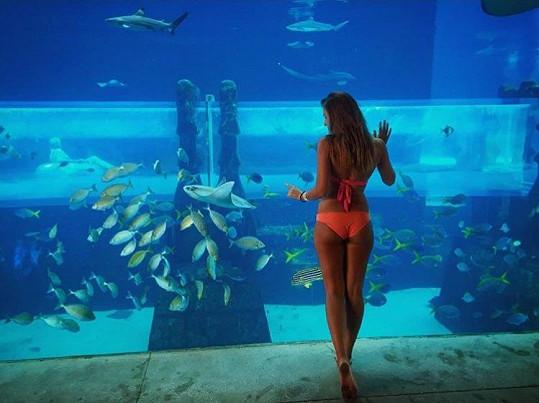 Inna v jednom z nejkrásnějších akvárií světa