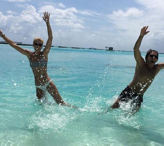 Daniela a Palo Habera na dovolené