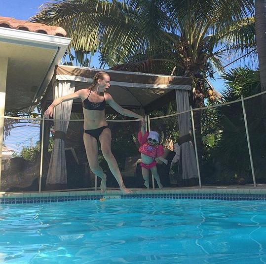 Diana si užívá sluníčka na Floridě.