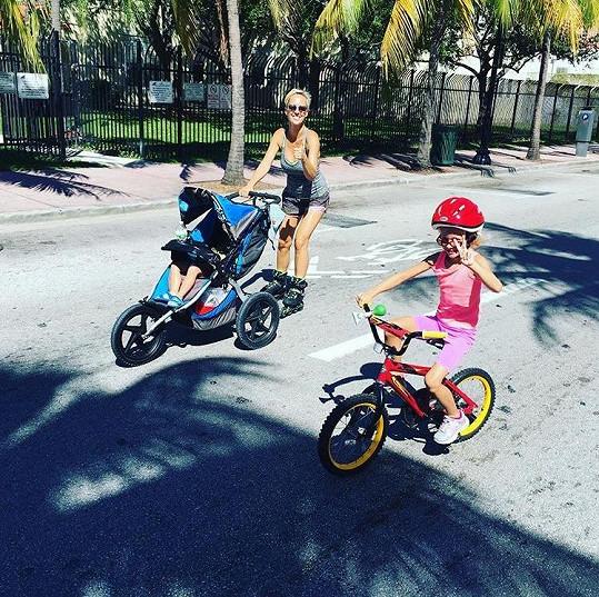 Zuzana s rodinou si užívají život v Miami.