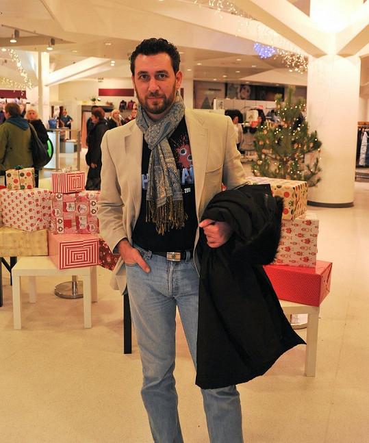Domenico Martucci na otevření nového outletu v Kotvě.