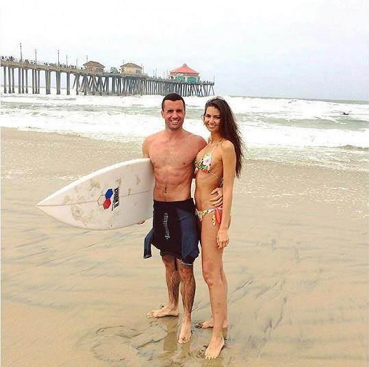 Lucie s přítelem na dovolené v Kalifornii