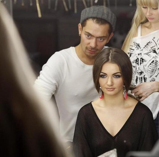 Tereza se svým stylistou Stanem Steinerem.