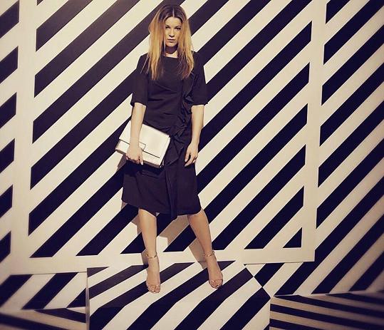 Michaela Gemrotová zářila na pražském fashion weeku v modelu Timoure et group
