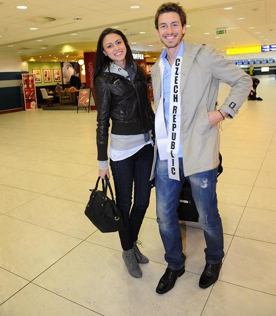 Gardavský s krásnou přítelkyní.