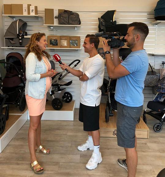 Andrea během rozhovoru pro Super.cz