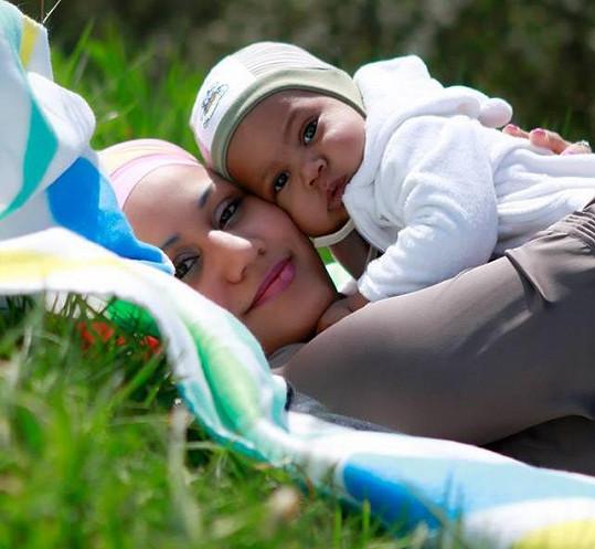 Klučina se s maminkou zúčastnil i focení v přírodě.