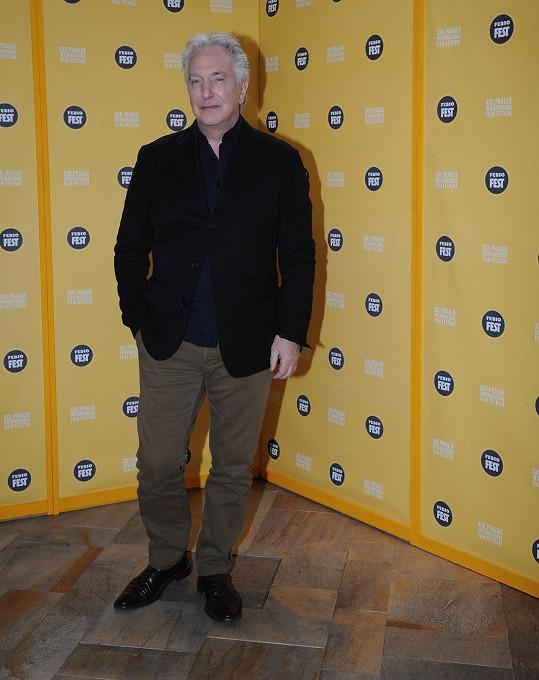 Alan Rickman je jednou ze tří hlavních hvězd filmového festivalu Febiofest.
