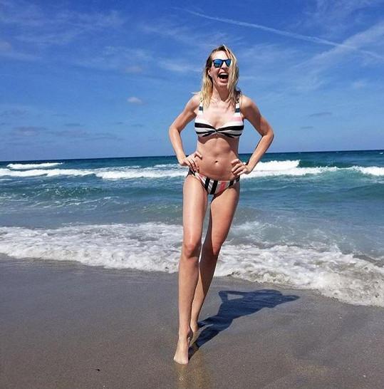 Diana Kobzanová si užívá dovolenou na Miami.