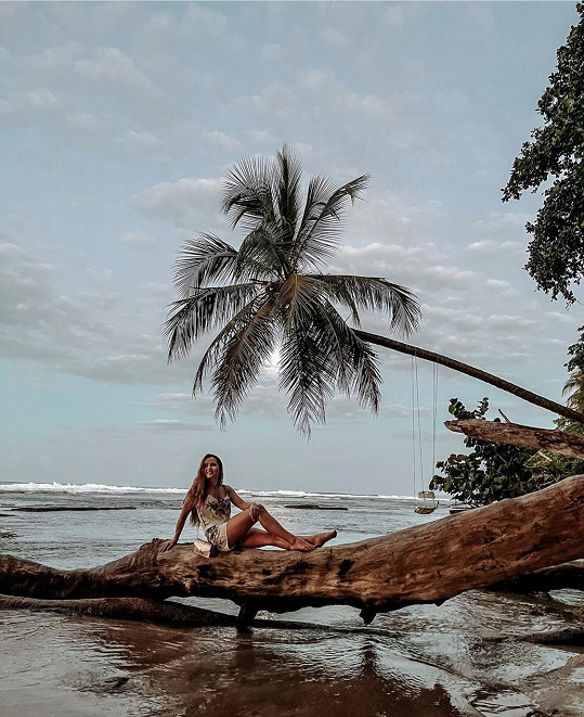 Modelka Kateřina Balušková v Kostarice