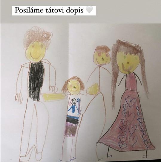 Tento obrázek namalovaly děti tatínkovi.