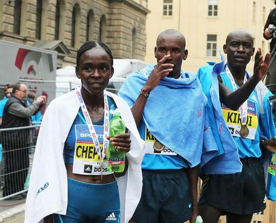 Pražského půlmaratonu se zúčastnili i špičkoví běžci z Keni.