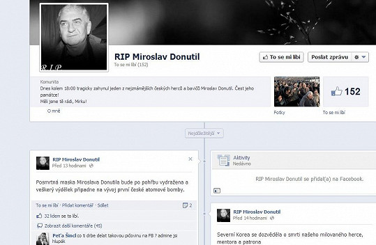 Na účet Donutila někdo hnusně vtipkuje na sociální síti.