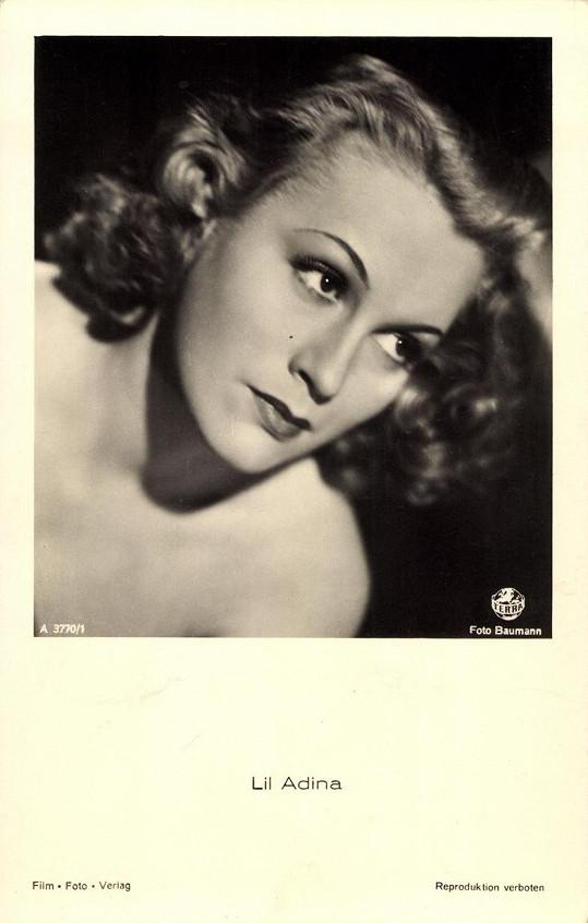 Adina Mandlová dostala od Goebbelse pseudonym Lil Adina.