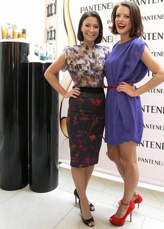 Akci, na které se stala tváří šamponu Andrea Kerestešová, moderovala Gábina Partyšová.