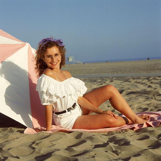 Gabrielle Carteris jako Andrea v seriálu Beverly Hills 90210