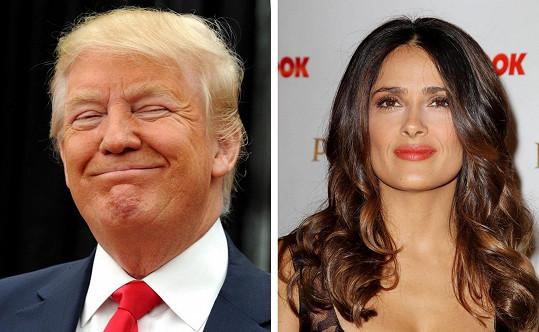 Donald Trump našel zalíbení v Salmě Hayek.