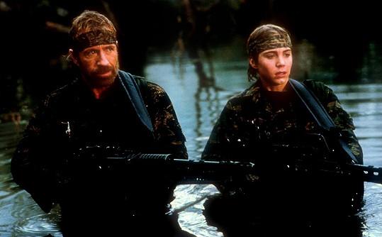 S Chuckem Norrisem ve filmu Mistr kickboxu (1992)