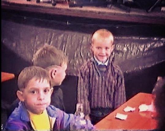Podařilo se nám získat záběry Davida a Pavla, když byli ještě malí kluci.