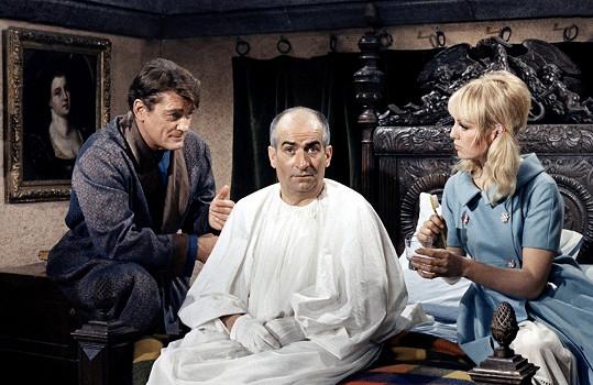 S Jeanem Maraisem a Louisem de Funèsem v komedii Fantomas kontra Scotland Yard (1966)