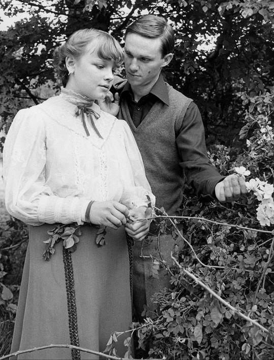 Veronika Jeníková v roce 1979. Bylo jí patnáct a hrála ve francouzském televizním filmu.