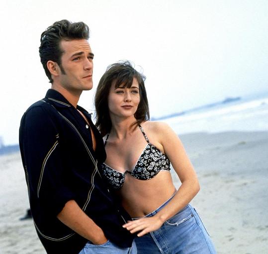 Shanen Doherty a Luke Perry v seriálu Beverly Hills 90210