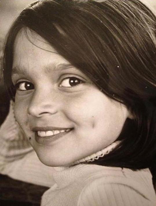 Mahulena Bočanová se pochlubila fotkou z dětství.
