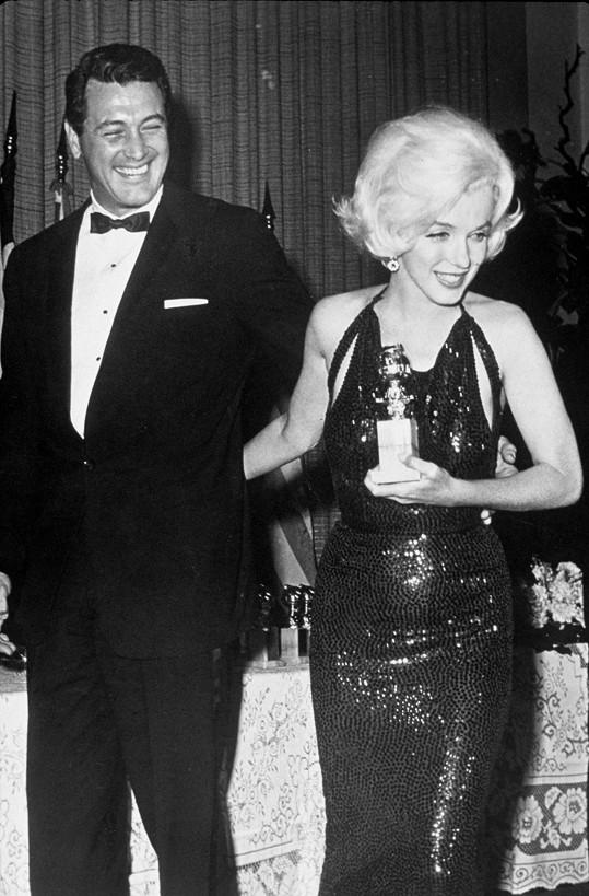 Marilyn Monroe v šatech posetých flitry v roce 1962