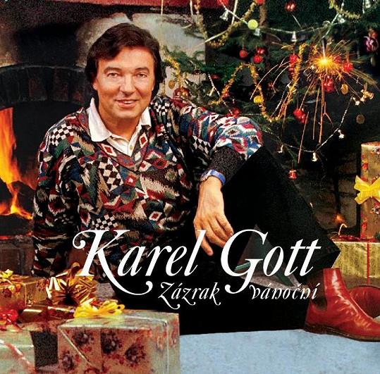 Karel Gott na obalu vánoční desky z roku 1995, která vychází v reedici.