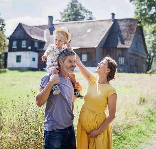 S manželem a prvorozeným synem.