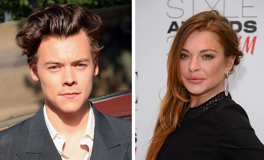 Harry Styles u Lindsay Lohan bohužel narazil.