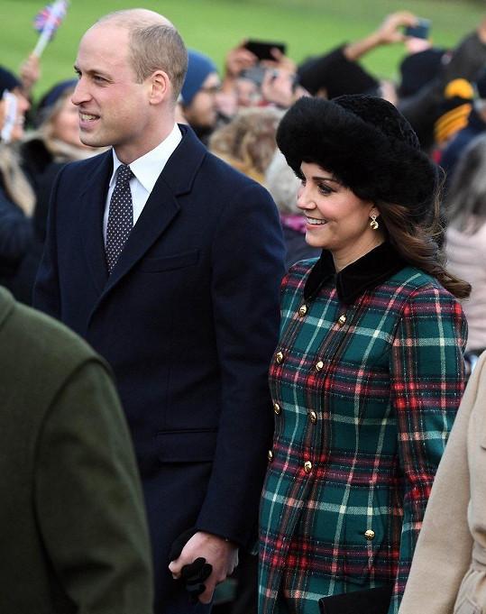 William a Kate se v dubnu dočkají třetího potomka.
