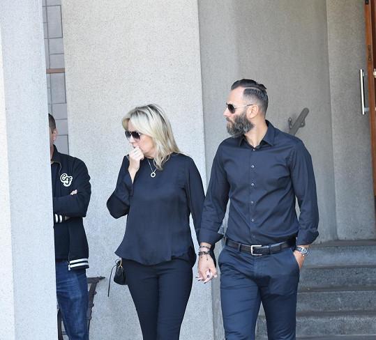 Patrik Berger s manželkou