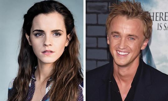 Emma Watson byla do hereckého kolegy Toma Feltona prý zblázněná.