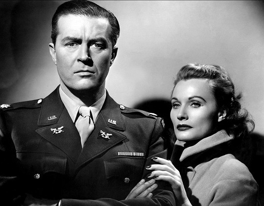Florence Marly a Ray Milland ve filmu Sealed verdict (1948)