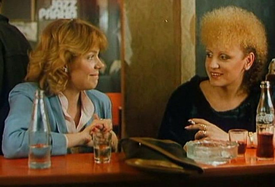 S Dagmar Havlovou ve filmu Můj hříšný muž (1986) a šílená dvoubarevná trvalá.